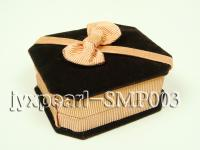 Coffee Velvet Small Pendant Box with a Golden Bowknot