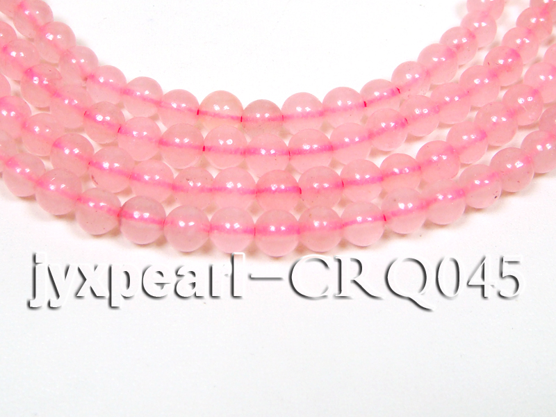 wholesale 7mm pink round rose quartz strings big Image 1