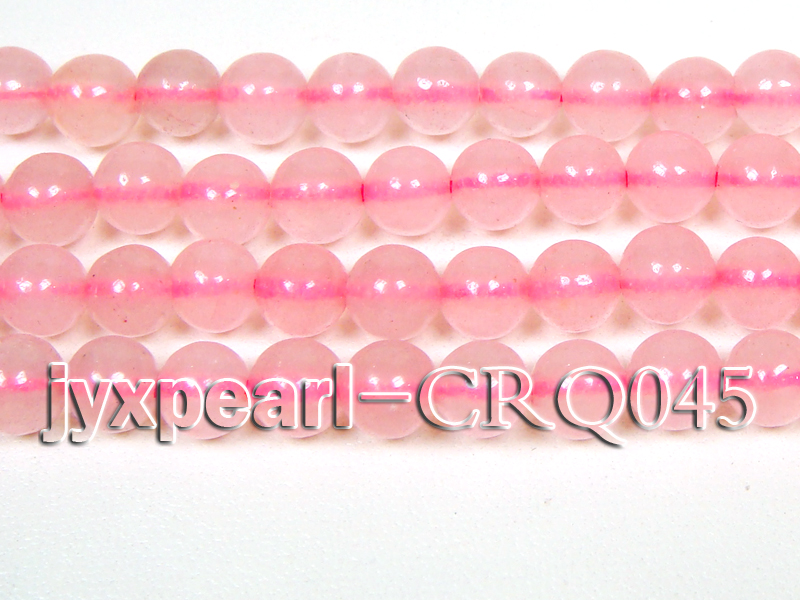 Wholesale 7mm Round Rose Quartz Beads String big Image 2