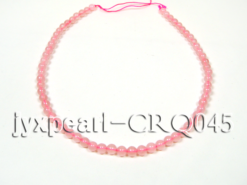 Wholesale 7mm Round Rose Quartz Beads String big Image 4