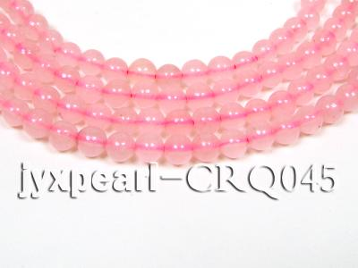 wholesale 7mm pink round rose quartz strings CRQ045 Image 1