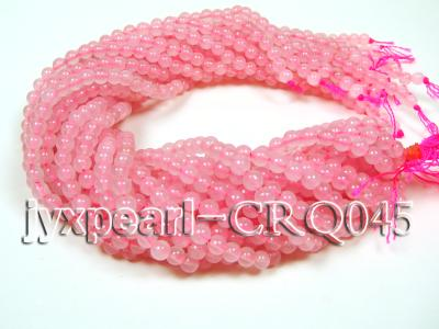 wholesale 7mm pink round rose quartz strings CRQ045 Image 3