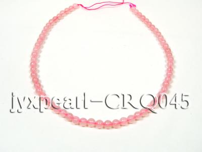 wholesale 7mm pink round rose quartz strings CRQ045 Image 4