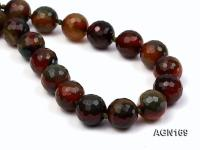 15.5mm colorful round faceted agate necklace AGN169