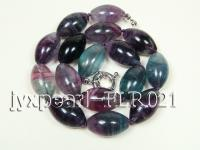 15x23mm colorful olive-shape fluorite necklace FLR021