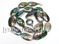 14x22-16x30mm Oval Abalone Shell Necklace SN100