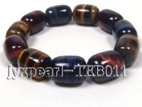 10.5x15mm Cylindrical Tiger eye bracelet  TEB011