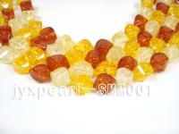 wholesale 14x20mm irregular Man-made Amber strings SMM001