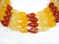 wholeale 16x29mm oval Man-made Amber strings SMM002