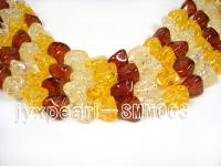 wholesale 15x18mm irregular Man-made Amber strings SMM003