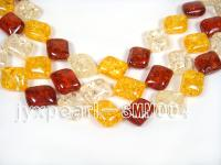 wholesale 17x20mm irregular Man-made Amber strings SMM004