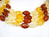wholesale 15x27mm nature red and yellow oval Man-made Amber strings SMM006