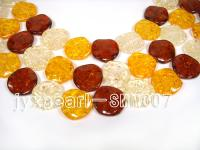 wholesale 30mm nature red and yellow Man-made Amber strings SMM007