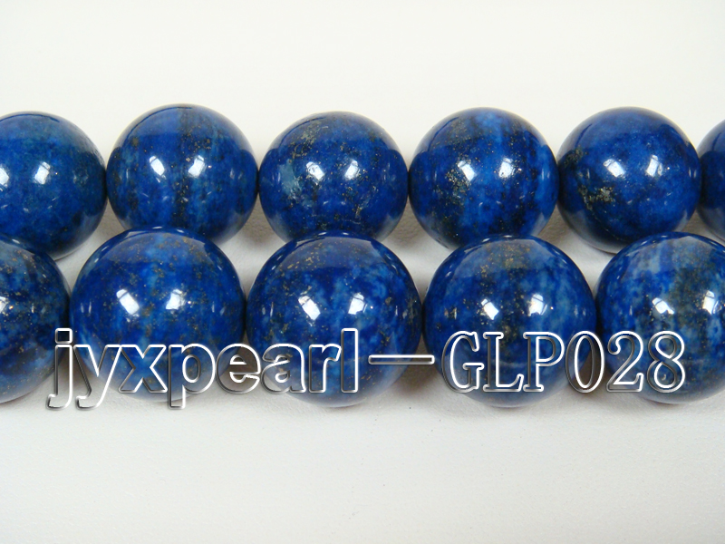 wholesale 18mm nature blue round AAAA quality lapis-lazuli strings  big Image 2