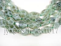 wholesale 16*30-14*20mm light green faceted Frosted Green Garnet Strings GAT017