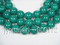 wholesale 20mm round immitation malachite strings GOG172