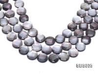 Wholesale 18mm Black Faceted Seashell String SBS035