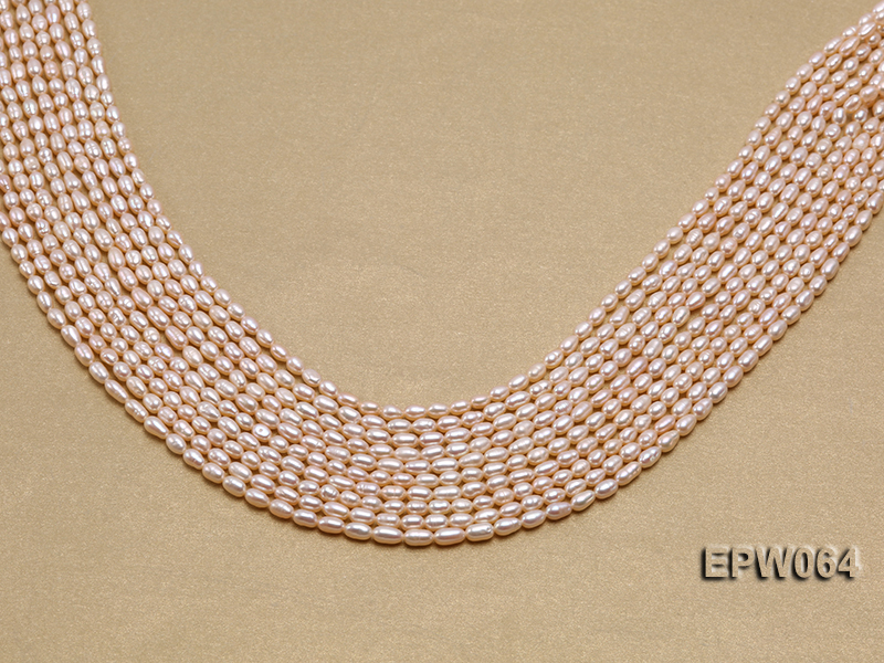 Wholesale Nice-quality 3.5x5.5mm  Rice-shaped Freshwater Pearl String big Image 1