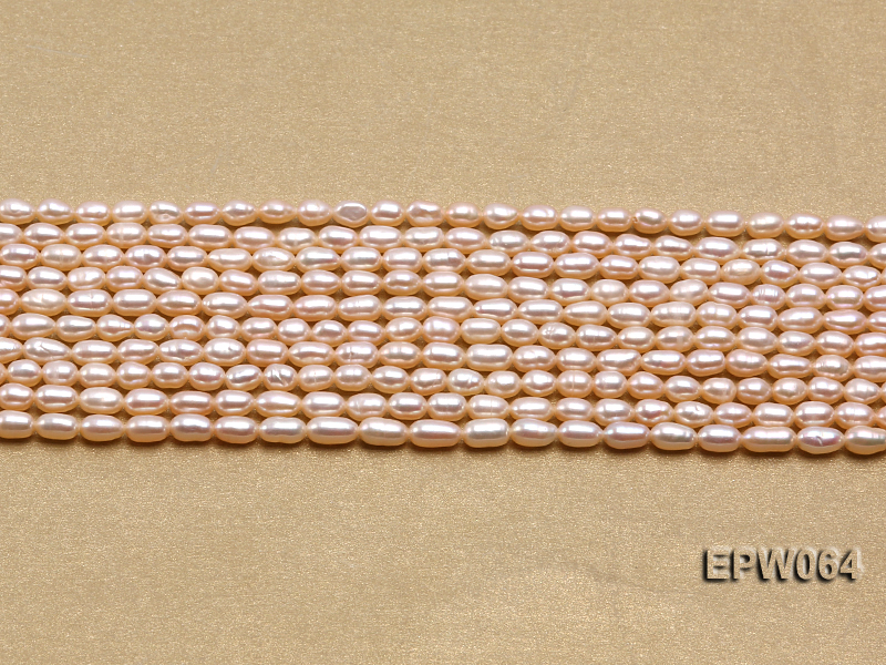 Wholesale Nice-quality 3.5x5.5mm  Rice-shaped Freshwater Pearl String big Image 2