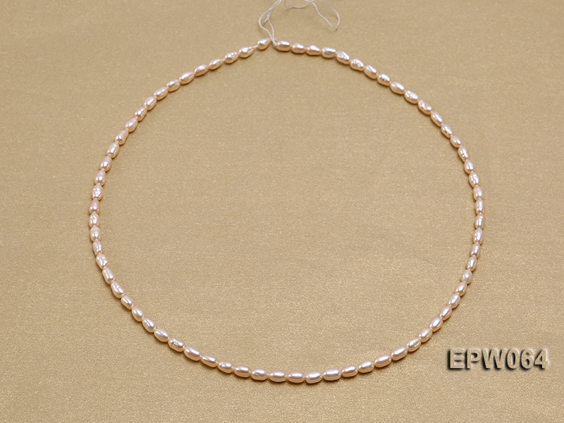 Wholesale Nice-quality 3.5x5.5mm  Rice-shaped Freshwater Pearl String big Image 4