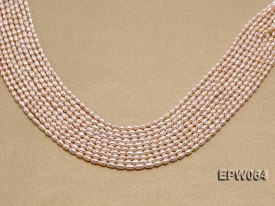 Wholesale Nice-quality 3.5x5.5mm  Rice-shaped Freshwater Pearl String EPW064 Image 1