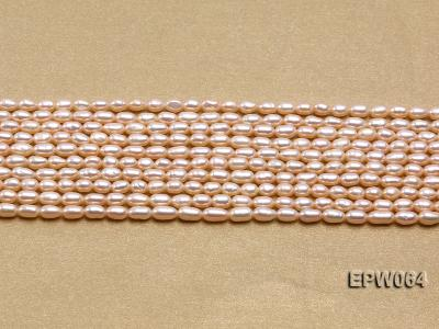 Wholesale Nice-quality 3.5x5.5mm  Rice-shaped Freshwater Pearl String EPW064 Image 2