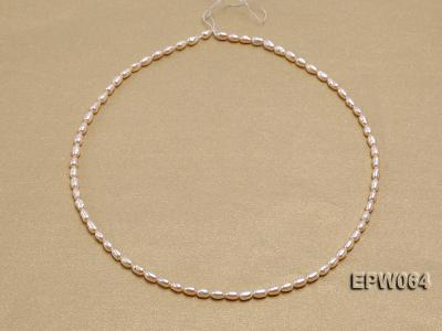 Wholesale Nice-quality 3.5x5.5mm  Rice-shaped Freshwater Pearl String EPW064 Image 4
