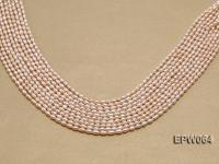 Wholesale Nice-quality 3.5x5.5mm  Rice-shaped Freshwater Pearl String EPW064