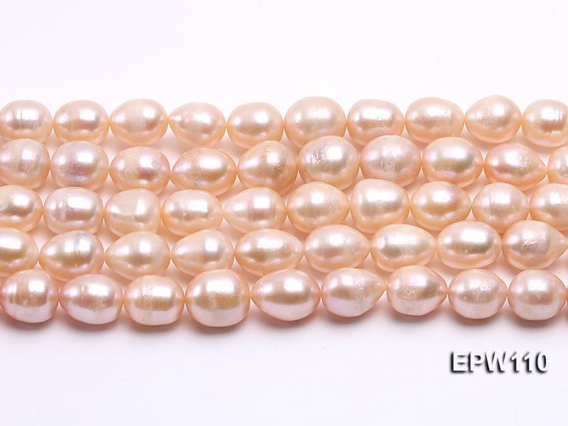 Wholesale 11x14mm Pink Rice-shaped Freshwater Pearl String big Image 1