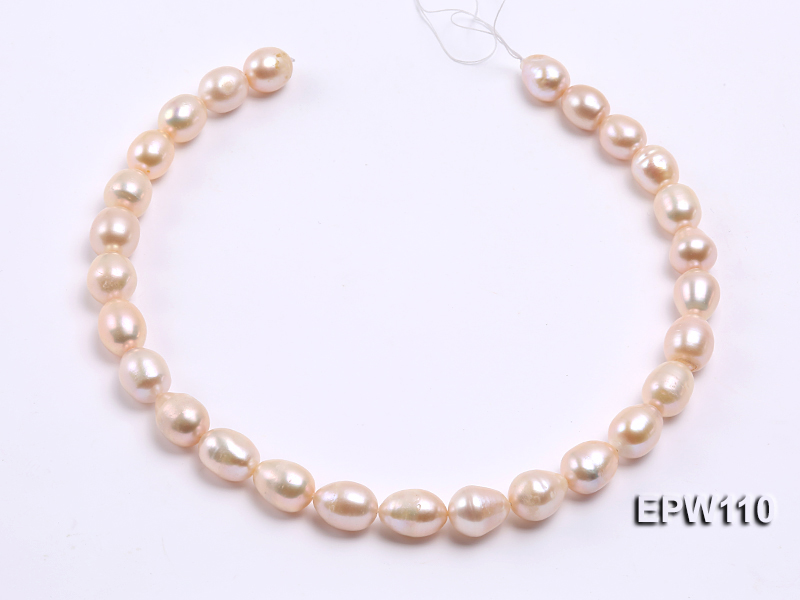 Wholesale 11x14mm Pink Rice-shaped Freshwater Pearl String big Image 3