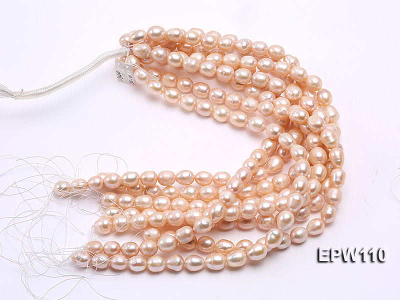 Wholesale 11x14mm Pink Rice-shaped Freshwater Pearl String big Image 4