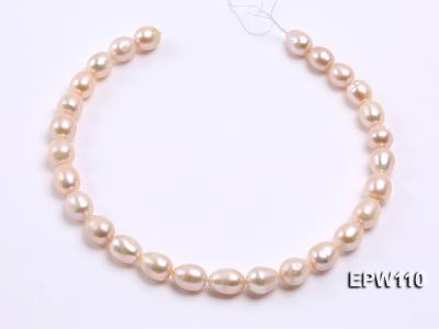 Wholesale 11x14mm Pink Rice-shaped Freshwater Pearl String EPW110 Image 3