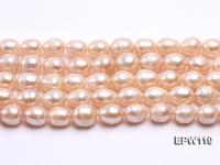 Wholesale 11x14mm Pink Rice-shaped Freshwater Pearl String EPW110