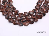 wholesale 17x18mm heart-shaped goldstone strings GGS018