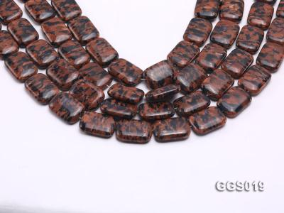 wholesale 18*25mm rectangular goldstone piece strings GGS019 Image 1