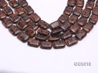 wholesale 18*25mm rectangular goldstone piece strings GGS019
