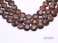 wholesale 20*7mm round Goldenstone pieces strings GGS020