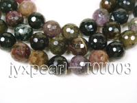 wholesale 14mm round faceted tourmaline semi-finished products TOU003