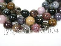 wholesale 20mm round faceted tourmaline semi-finished products TOU004