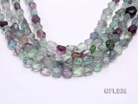 Wholesale 10*12mm Colorful Faceted Irregular Fluorite String GFL038