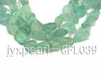 wholesale 16x15mm green irregularly shaped fluorite semi-finished products GFL039