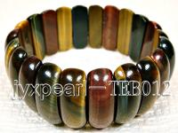 8x9x25mm flat oval natural Tiger eye bracelet  TEB012