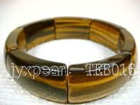 9.5x18x30mm flat oval natural Tiger eye bracelet  TEB016