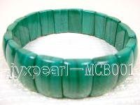 5.5x10.5x16.5mm Irregular Malachite Elasticated Bracelet MCB001