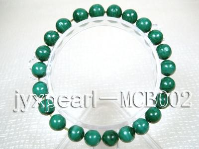8.5mm round green peacock malachite bracelet MCB002 Image 1
