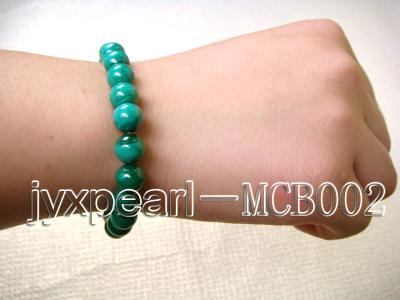 8.5mm round green peacock malachite bracelet MCB002 Image 3