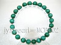 8.5mm Round Malachite Beads Elasticated Bracelet MCB002