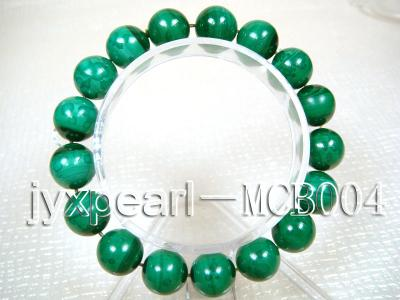 12mm Round Malachite Beads Elasticated Bracelet MCB004 Image 1