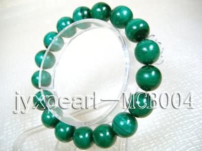 12mm Round Malachite Beads Elasticated Bracelet MCB004 Image 2