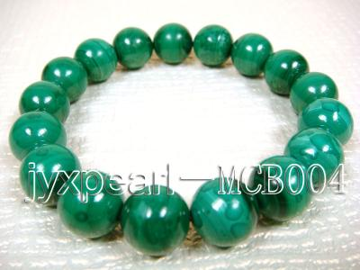 12mm Round Malachite Beads Elasticated Bracelet MCB004 Image 3